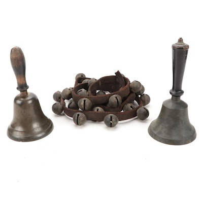Sleigh Bells with Leather Strap, Pitched Hand Bells