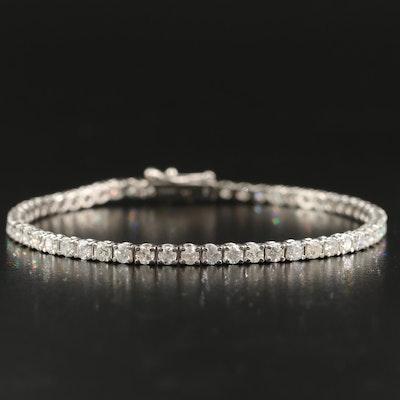 14K 4.30 Diamond Line Bracelet