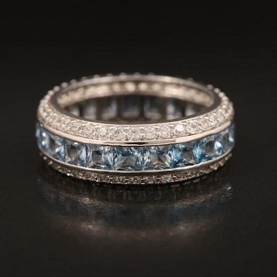 Spinel and Cubic Zirconia Eternity Band