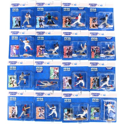 """1996 Kenner """"Starting Lineup"""" MLB Action Figures with Griffey, Larkin, and Sosa"""