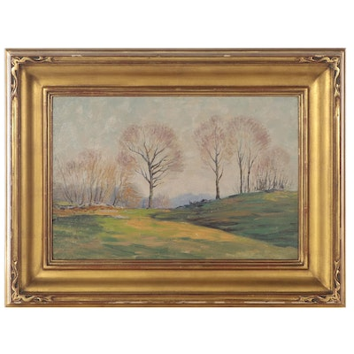 Will Hutchins Landscape Oil Painting, Early 20th Century