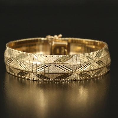 Italian 14K Diamond Cut Bracelet