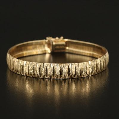Italian 10K Diamond Cut Bracelet