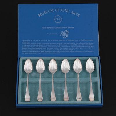 Stieff for Museum of Fine Arts Boston Silver Plate Paul Revere Spoon Set