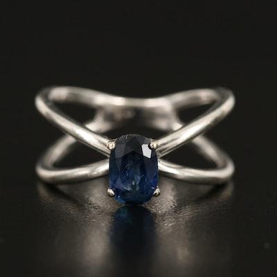 14K 1.09 CT Sapphire Ring