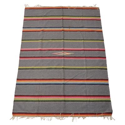 Mexican Flatweave Wool Serape Blanket