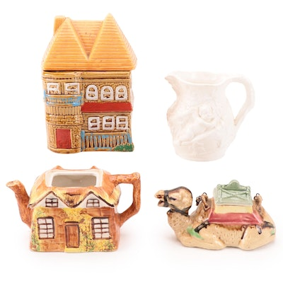 Price Kensington Ceramic Teapot with Japanese Camel Form Teapot and Others