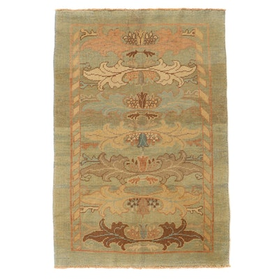 4'8 x 6'10 Hand-Knotted Turkish Donegal Area Rug