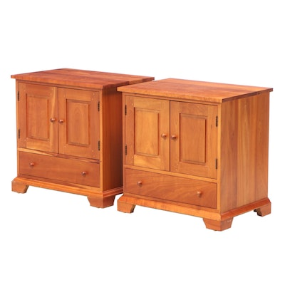 """Pair of Harden Furniture """"Natural Transitions"""" Cherrywood Nightstands"""