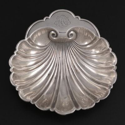 Wm. B. Durgin Co. for Gorham Sterling Silver Footed Shell Bonbon Dish