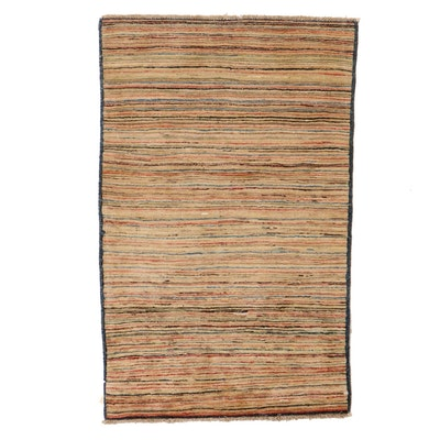 2'11 x 4'10 Hand-Knotted Pakistani Gabbeh Accent Rug
