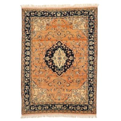 5' x 7'7 Hand-Knotted Pakistani Persian Yazd Area Rug