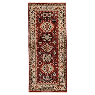 2'7 x 6' Hand-Knotted Afghan Kazak Long Rug