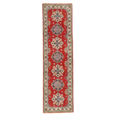 2'8 x 9'9 Hand-Knotted Pakistani Kazak Carpet Runner