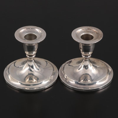 La Pierre Mfg. Co. Weighted Sterling Silver Candlesticks, Early 20th Century