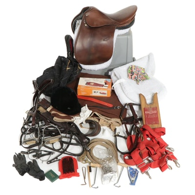 English Saddle and Tack Items