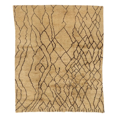 8'4 x 9'11 Hand-Knotted Indo-Moroccan Shag Area Rug