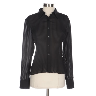Ralph by Ralph Lauren Pleated Button-Up Shirt