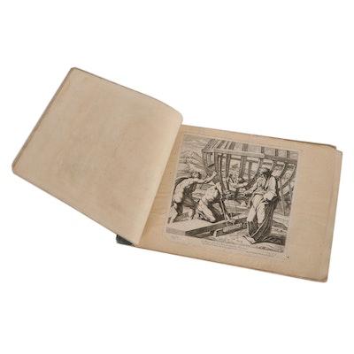 Nicolas Chaperon Engraving Booklet of Biblical Scenes, Circa 1649