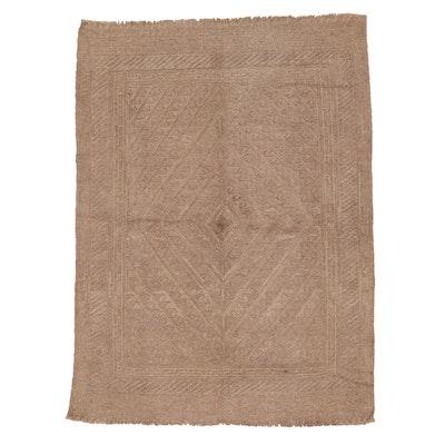 4'5 x 5'10 Handwoven Soumak Area Rug