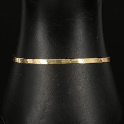 Italian 10K Herringbone Bracelet