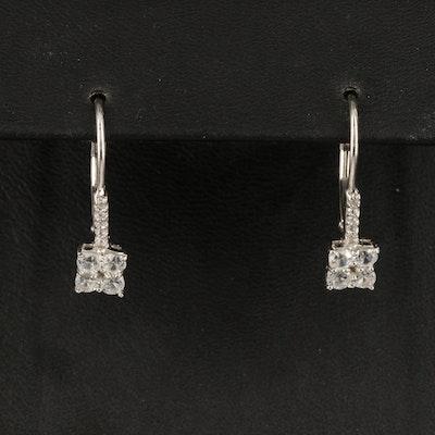 Sterling Zircon Drop Earrings