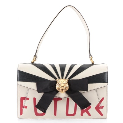 Gucci Top Handle Osiride Future Bag in Leather with Bow Detail