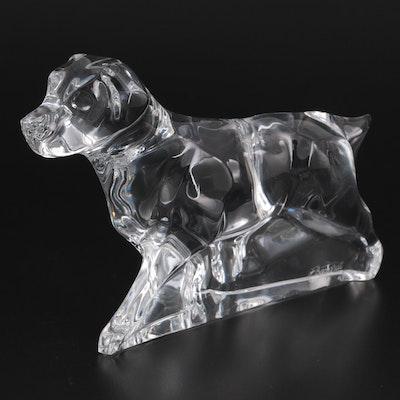 Baccarat Crystal Labrador Dog Figurine