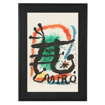 Abstract Surreal Lithograph After Joan Miró