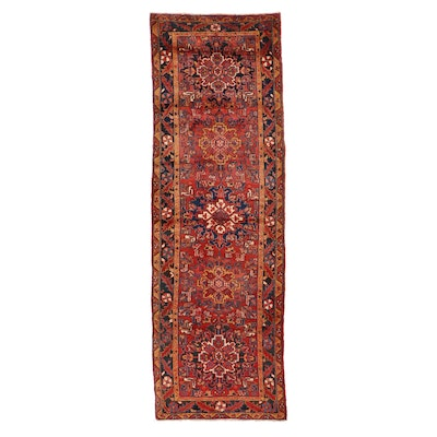 3'9 x 11'9 Hand-Knotted Persian Ahar Long Rug