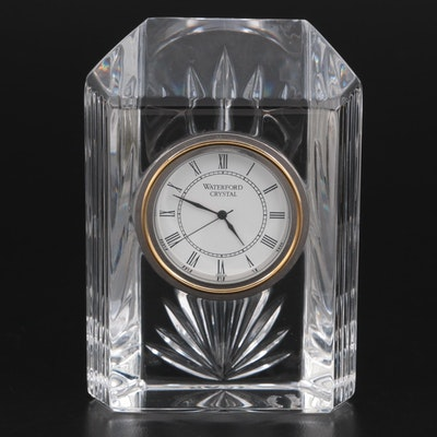 "Waterford Crystal ""Colonnade"" Small Quartz Clock"
