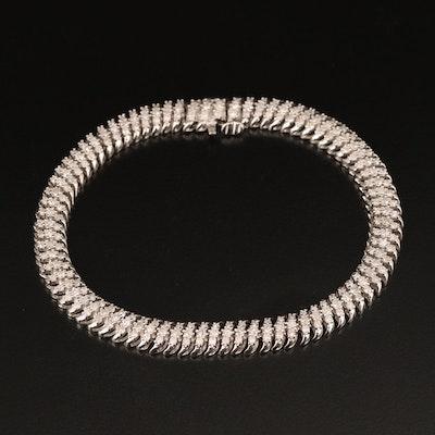Sterling 3.00 CTW Diamond 'S' Link Bracelet