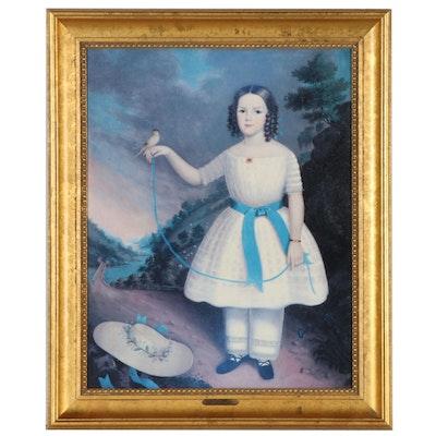 """Offset Lithograph After Jefferson Gaunt """"Portrait of Josephine Dixon"""""""