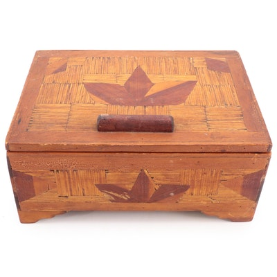 Prison Art Matchstick Decorative Vanity Box, Early to Mid 20th Century
