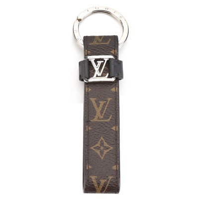 Louis Vuitton Dragonne Keychain in Macassar Monogram Coated Canvas