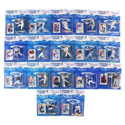 """Kenner """"Starting Lineup"""" 1997 MLB Figures with Derek Jeter and Alex Rodriguez"""