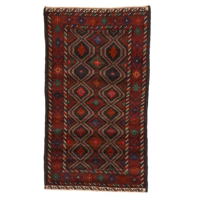 2'8 x 4'9 Hand-Knotted Afghan Caucasian Kazak Accent Rug