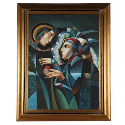 """Oil Painting After Oleg Zhivetin """"Tender Heart"""""""