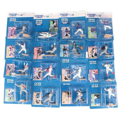 """Kenner """"Starting Lineup"""" 1996 MLB Figures with Griffey, Bonds, Clark and Bagwell"""