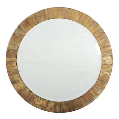 Carolina Mirror Company Round Giltwood Framed Wall Mirror