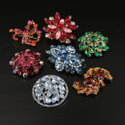 Weiss Rhinestone Brooch Featured with Vintage Brooches