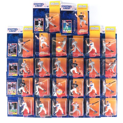 """1994 Kenner """"Starting Lineup"""" MLB Action Figures with Thomas and Ripken Jr."""