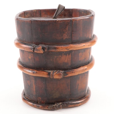 Chinese Wooden Grain or Rice Storage Container
