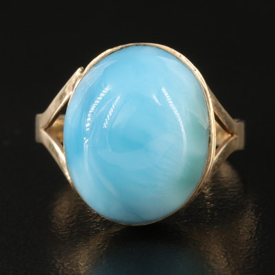 14K Larimar Ring