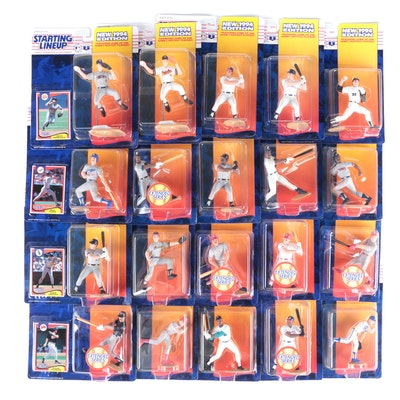 """1994 Kenner """"Starting Lineup"""" MLB Action Figures with Ripken and Bonds"""