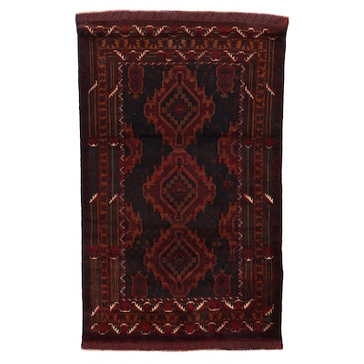 3'11 x 6'6 Hand-Knotted Afghan Baluch Area Rug
