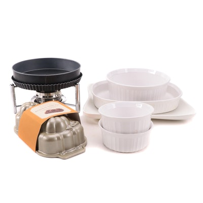 Corning Ware Bakeware and Nordic Ware Baking Pan with Other Cookware