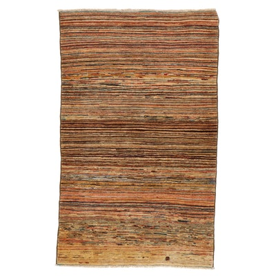 3'9 x 6'2 Hand-Knotted Pakistani Gabbeh Area Rug