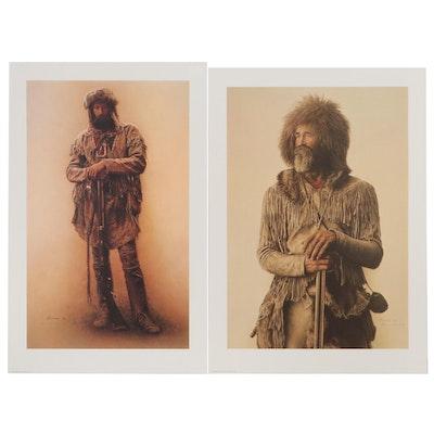 James Bama Offset Lithographs of Mountain Men