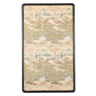 Chinese Machine Woven Silk Textile Panel of Flying Cranes
